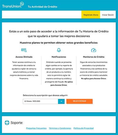 Registro cifin online