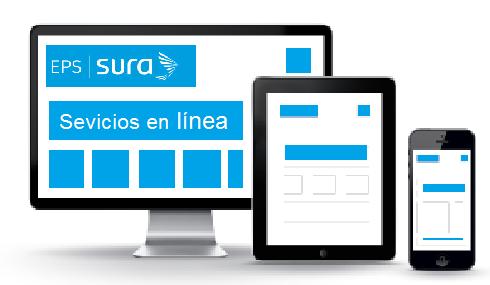 Desde su ordenador, su tableta o su teléfono móvil, puede realizar todas las acciones virtuales de la agencia Sura EPS en línea.