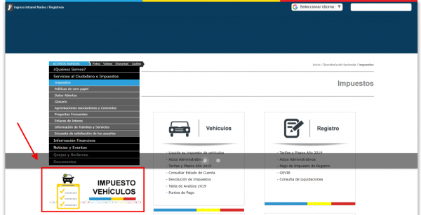 Impuesto de Vehículos de Cundinamarca