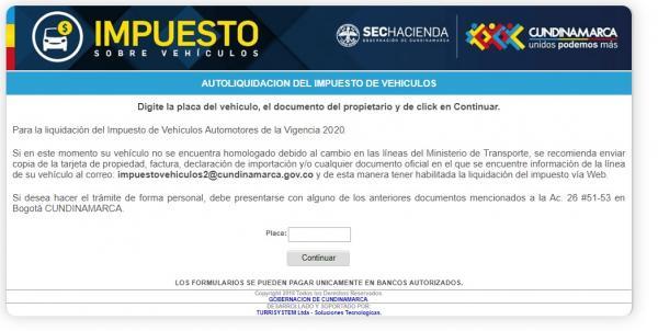 Impuesto sobre los automóviles en Cundinamarca