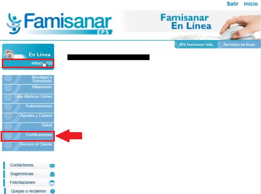 Solicitud de cita médica con Famisanar 5